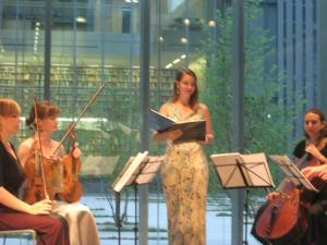 Alison Wahl and Chicago Q Ensemble at the Poetry Foundation